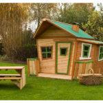 Cabane bois jardin enfant