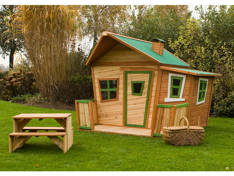 cabane de jardin en bois enfant. Black Bedroom Furniture Sets. Home Design Ideas
