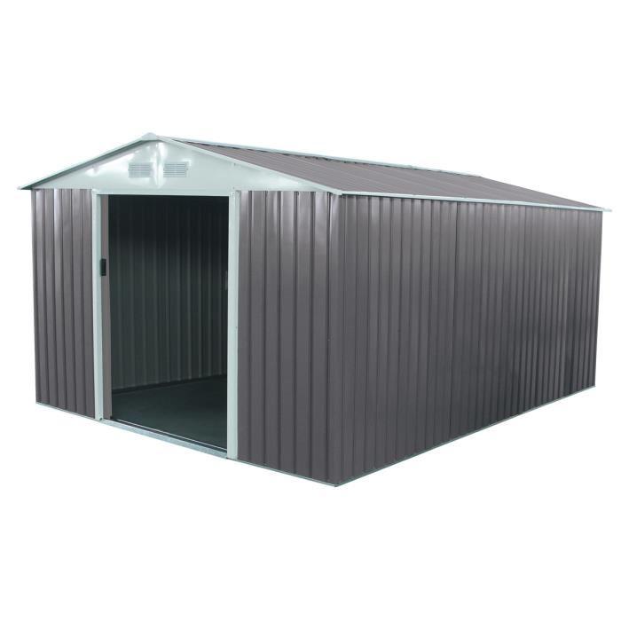 cabane de jardin métallique