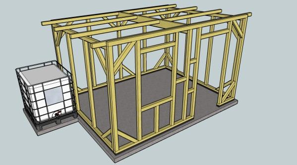 Plan cabane de jardin en bois - Plan abri de jardin 1 pente ...