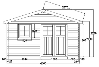 plan cabane de jardin